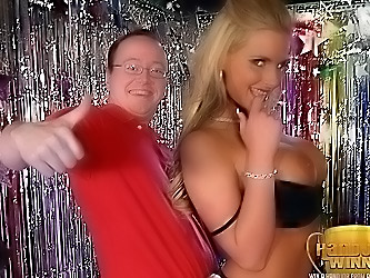 Phoenix Marie Giving a Handjob to Lucky Winner...