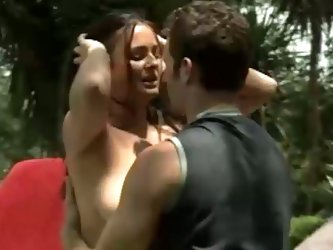 Outdoor romance with hot playboy inspired fuckers