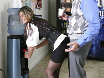 I fucked my coworker hard in the men's...