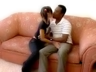 Big Black Cock Banging Fills Slut's Fuck...
