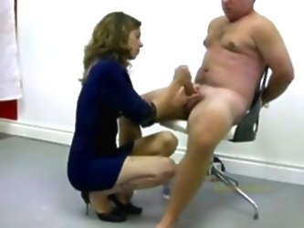 Policewoman Tortures Naked Offen...