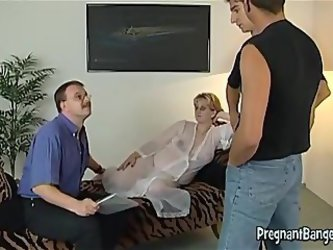 Pregnant Wife Loves Many Cocks