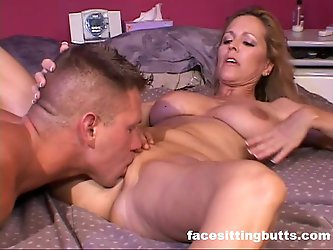 Natural tit mommy enjoys dick a little bit too...