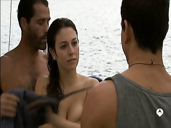 Blanca Suarez topless but covered show us her...