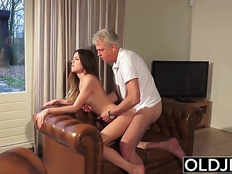 Old and Young Porn - Babysitter pussy fucked by...