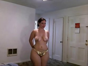 Big Ass Lady Loves Getting Naked And Showing...