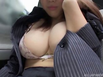 Busty Japanese Milf Pleases Her Wet Pussy With...