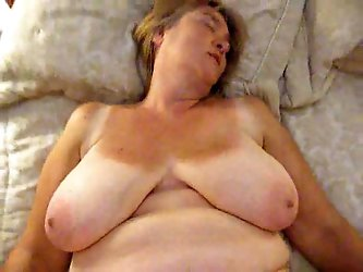 My mature blonde wife is under me getting...