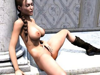 Lara Croft Threesome